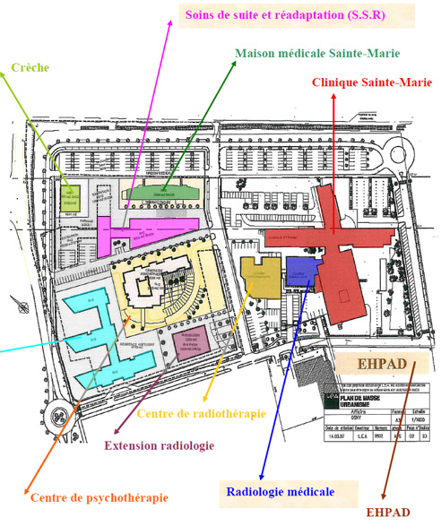 Plan Clinique Sainte Marie